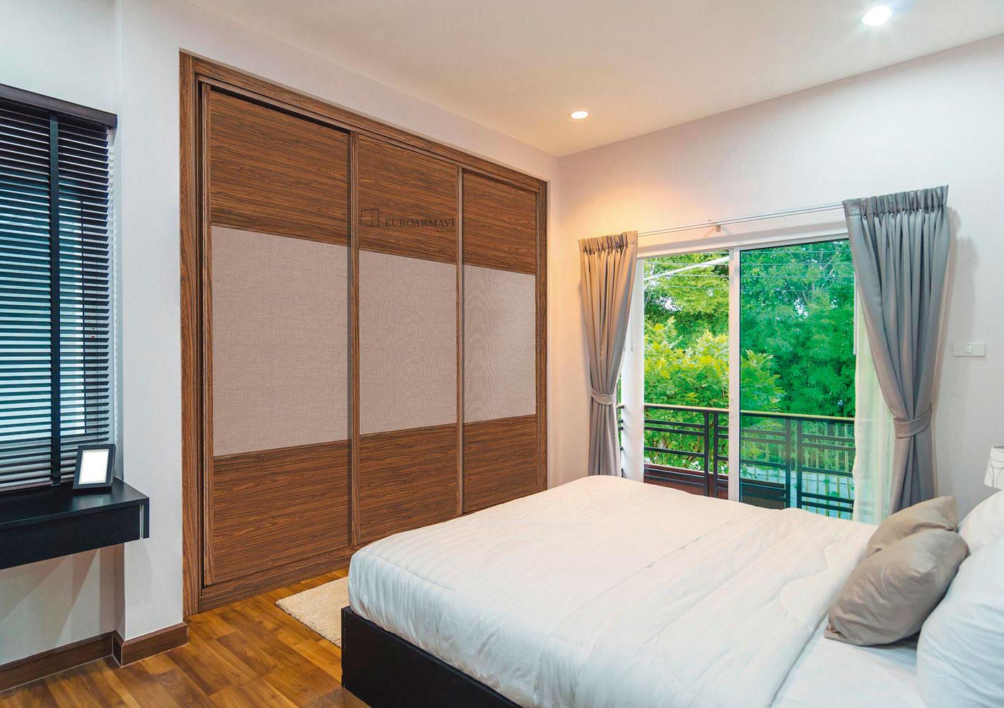 Dormitorios con armarios empotrados armarios sidon frente de armario de diseo blanco cristal y - Dormitorios con armarios empotrados ...